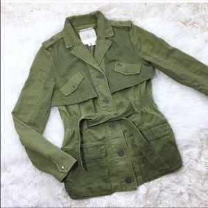 Anthropologie Hei Hei Ruffle Back Anorak Jacket XS